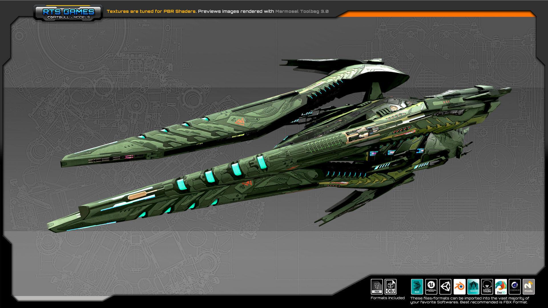SF Alien Dreadnought  A7