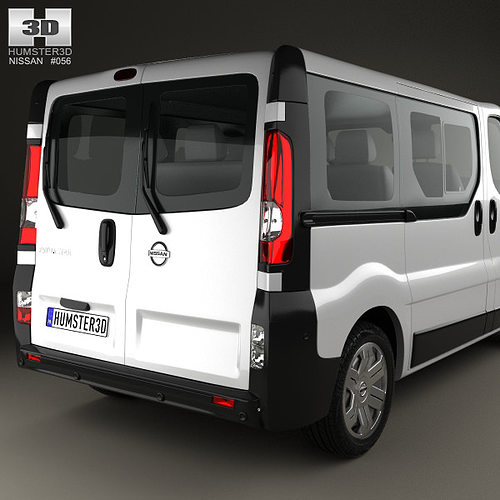 nissan primastar passenger van 2002 3d model max obj 3ds fbx c4d lwo lw lws. Black Bedroom Furniture Sets. Home Design Ideas
