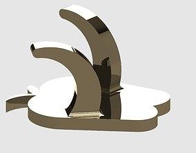 Double Apple Kitchen Hanger 3D print model