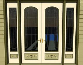 3D model Victorian Double Door 1