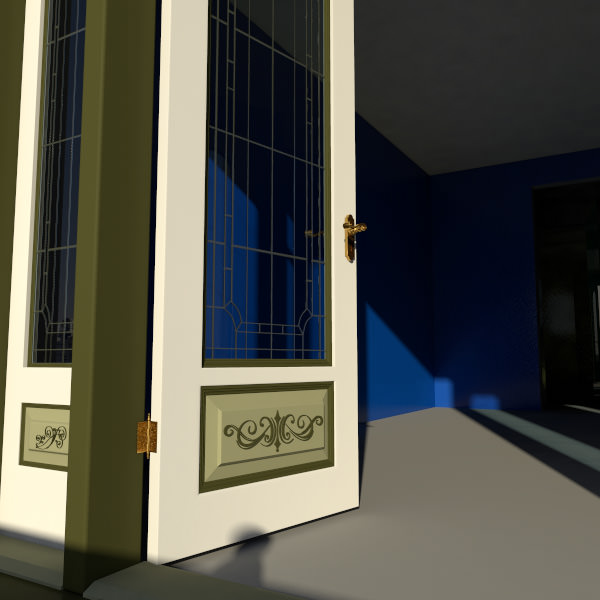 Victorian Double Door 1 3d Model Max Obj Fbx Ma Mb