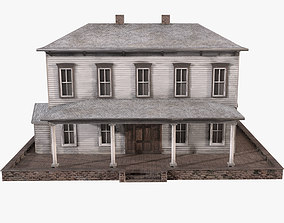 3D asset low-poly Old House