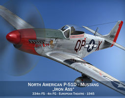 3D North American P-51D Mustang - Iron Ass