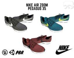 85835b33b34e4 3D model Sneaker Pack - Nike Air Zoom Pegasus 35 PBR