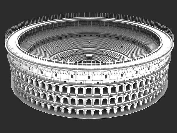 roman ancient colosseum reconstruction 3d model 3d model obj mtl 3ds fbx blend 1