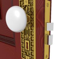 3D model Door Knob Hardware 4