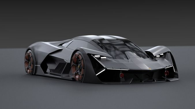 Lamborghini Terzo Millennio 3d Animated Cgtrader