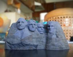 3D printable model Mount Rushmore