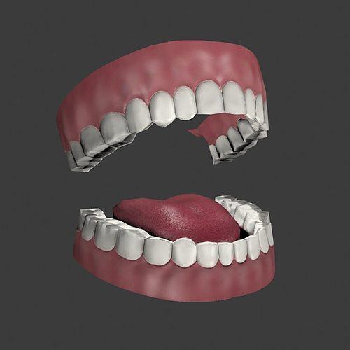 mouth 3d model low-poly max obj 3ds fbx 1