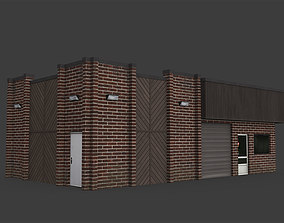 3D model realtime Car Workshop Building