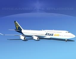 3D Boeing 747-8I Jumbo Jet Atlas