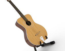 Acoustic Guitar Orfeus With Stand 3D model