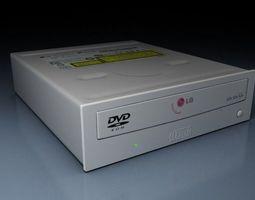 3D model DVD R W read writer