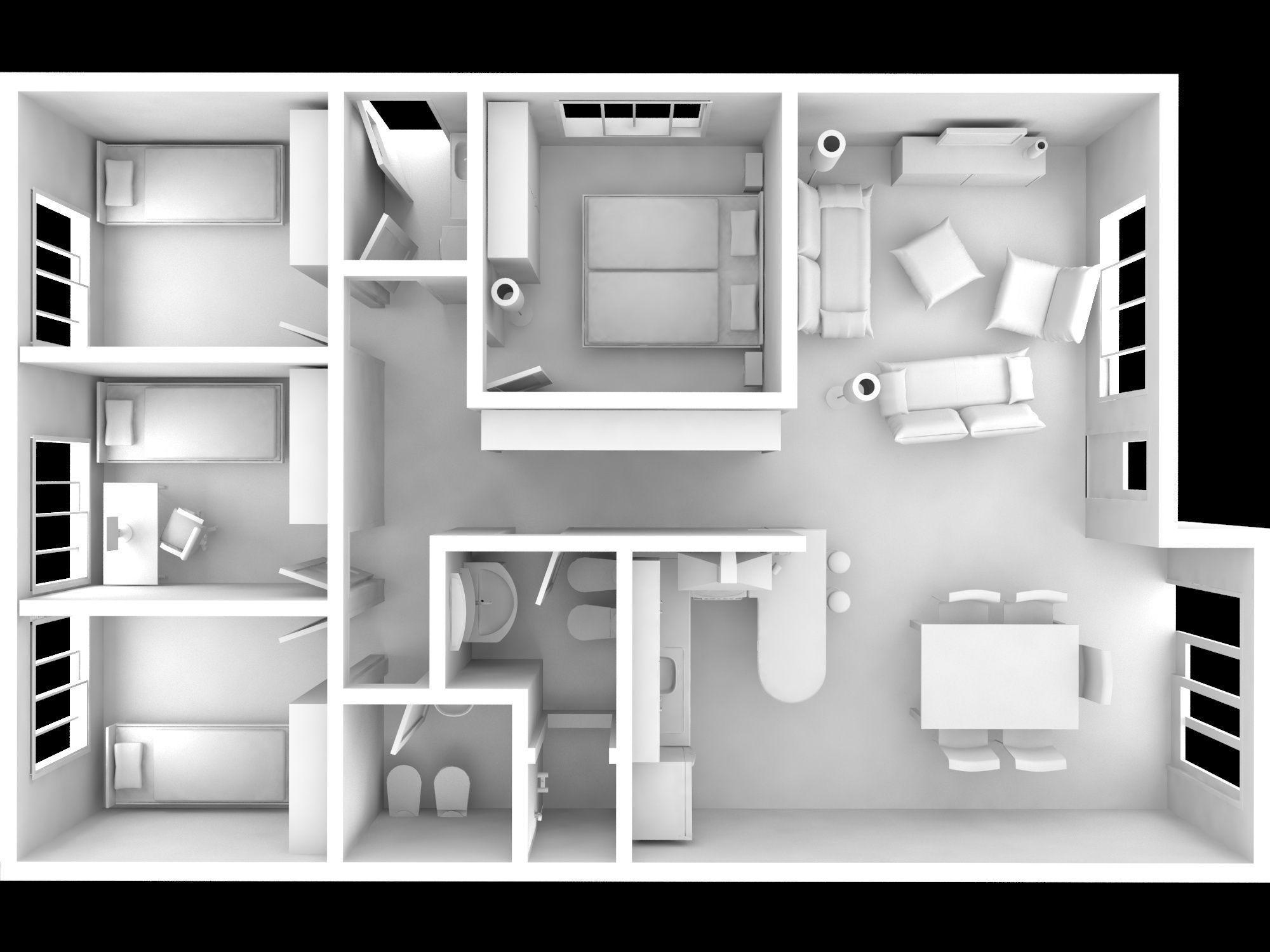 Full house 3d model