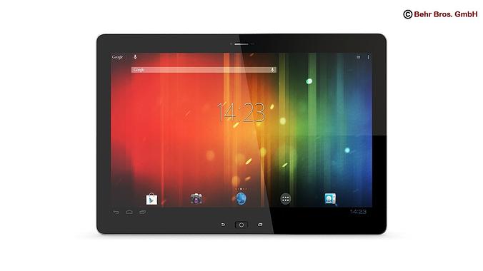 generic tablet 12 2 inch 3d model max obj mtl 3ds fbx c4d lwo lw lws 1