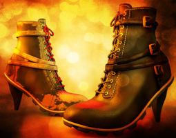 3d high heeled urban boots