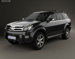 3d model great wall hover haval h3 2010
