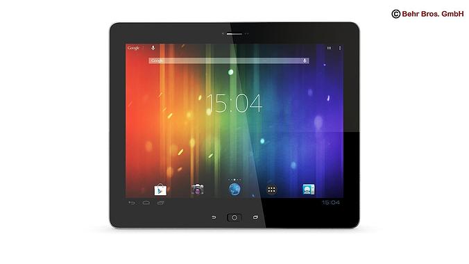 generic tablet 9 7 inch 3d model max obj mtl 3ds fbx c4d lwo lw lws 1