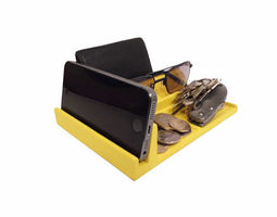 bedside utility tray right-sided enhanced 3d printable model