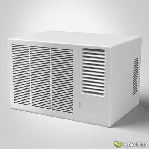 Window air conditioner 3d model max obj fbx c4d lwo lw lws for 14 wide window air conditioner