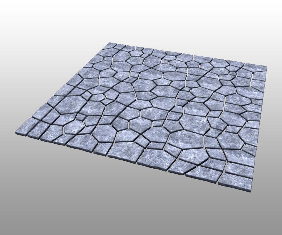 Stone ground tiles 3D Model MAX OBJ FBX | CGTrader.com on Tile Models  id=92489
