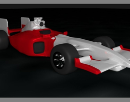 3D model Formula 1 - White and Red