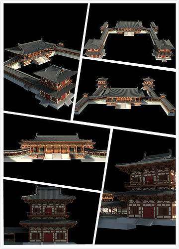 chinese classical temple 3d model max 1