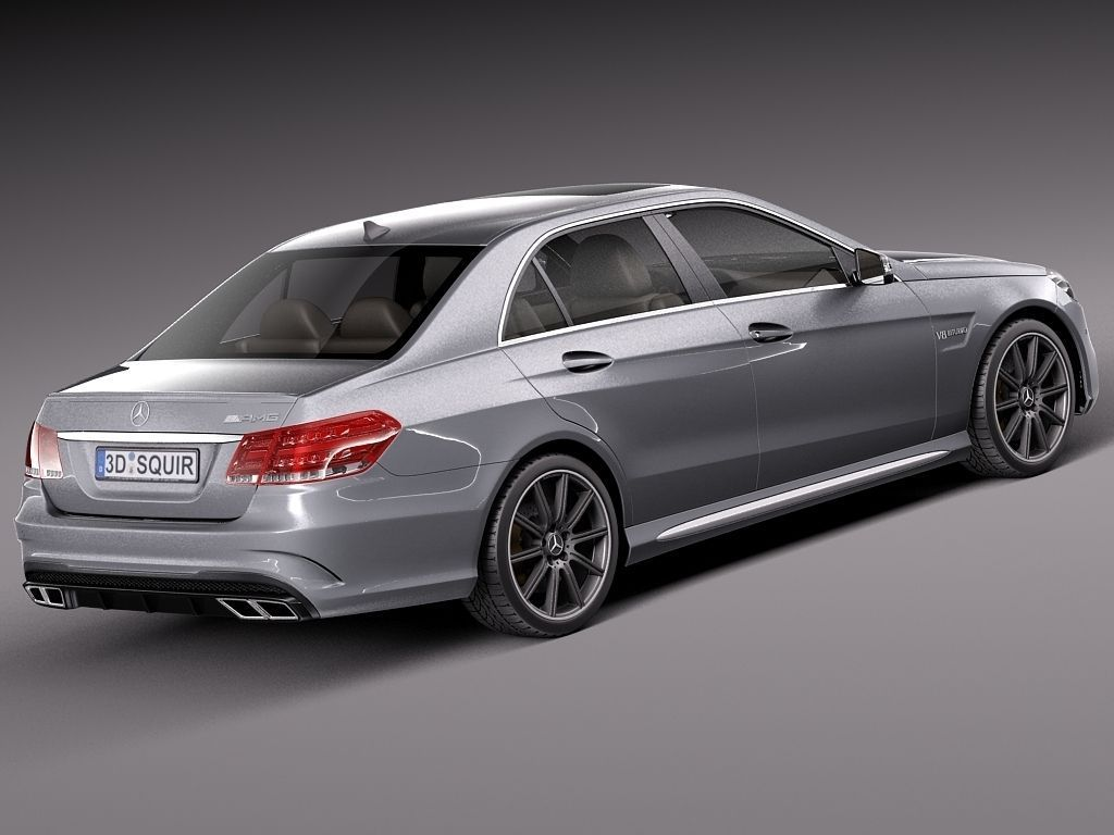 Mercedes benz e63 amg sedan 2014 3d model max obj 3ds fbx for Mercedes benz sedan models