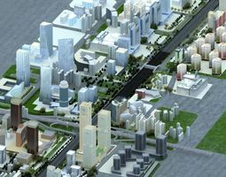 beijing Chang An avenue 3D