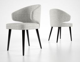 3D Minnotti Aston dining chair