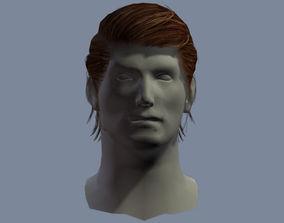 3D asset hair man 4