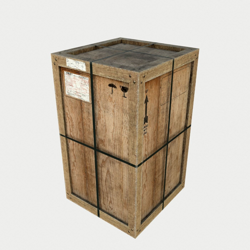 Old Wooden Cargo Crates With Dust Model Low Poly Obj Mtl S Fbx Tga