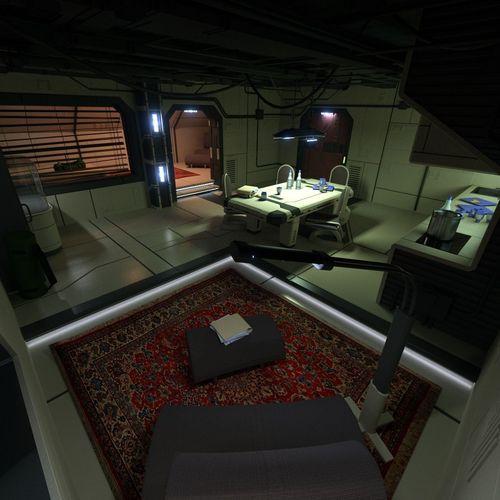 sci fi apartment scene 2 3d model obj 3ds blend 1