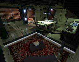 sci fi apartment scene 2 3d model obj 3ds blend