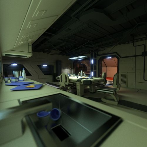 Sci Fi Apartment Scene 2 3d Model Obj 3ds Blend Cgtrader Com