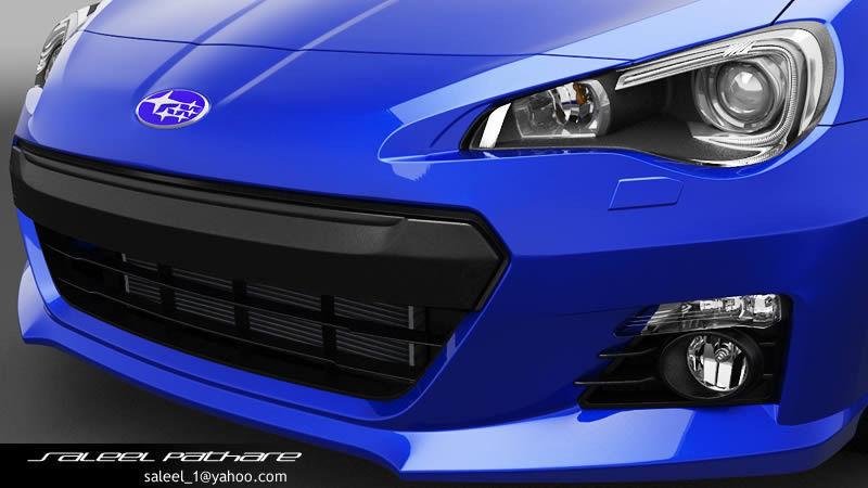 Subaru BRZ 2014 3D Model OBJ TGA | CGTrader.com