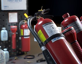 Emergency Set - Fire Extinguisher - Game ready 3D model