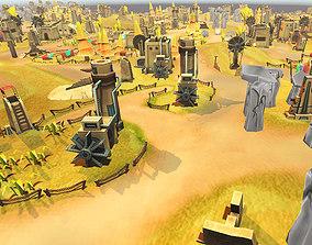 3D asset Toon Level Desert