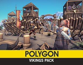 3D model POLYGON - Vikings Pack