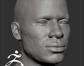 Average Black Male Head Basemesh 3D