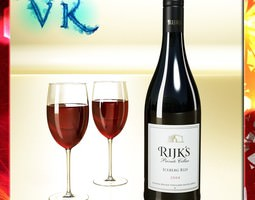 red wine bottle rijks and cup 3d model