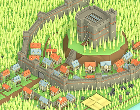 3D model Low Poly Medieval