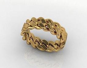 Chain ring CUBAN 3D printable model men