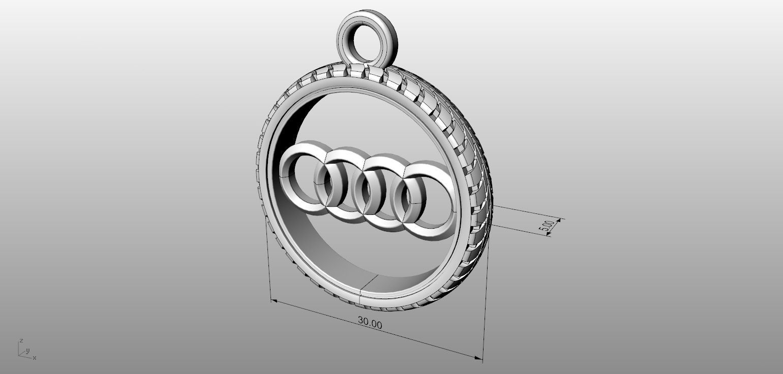 Audi Logo Pendant 3d Model 3d Printable Stl 3dm Cgtrader Com
