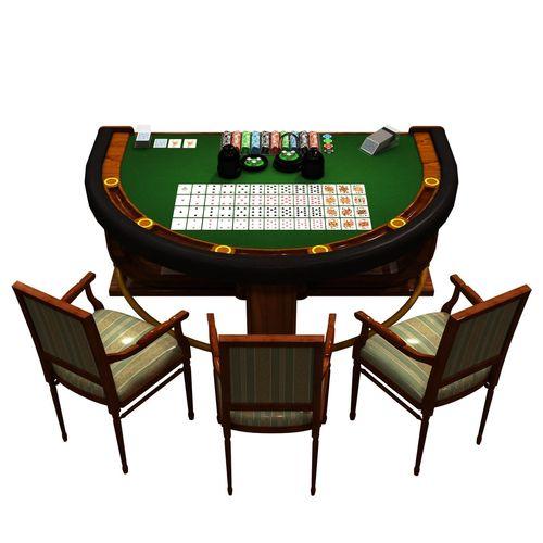 casino table 3d model low-poly max obj fbx ma mb mtl 1