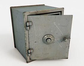 3D gray Safe box