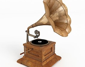 3D model Gramophone metal