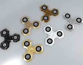 6 Spinner Fidget Widget - Pack 01 3D model
