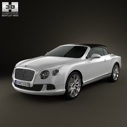 3D Model Bentley Continental GT Convertible 2012