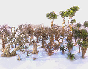 3D asset Low Poly Tree Pack